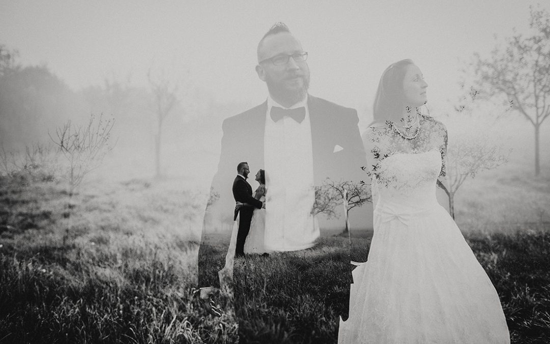 After Wedding Shooting im Nebel